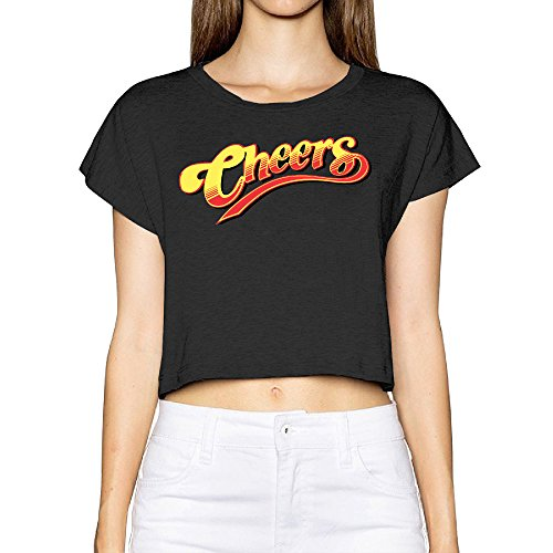 Cheers Logo T Shirt Woman's Graphic Print Cropped Top Tee Shirt
