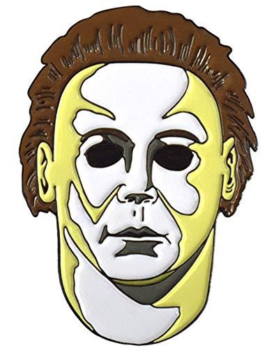 Halloween H20 Michael Myers Mask Enamel Pin]()