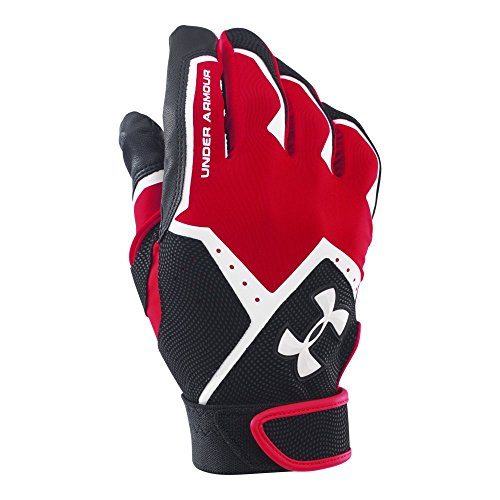 Under Armour Men's Clean-Up VI Batting Gloves, Red (600)/White, Large