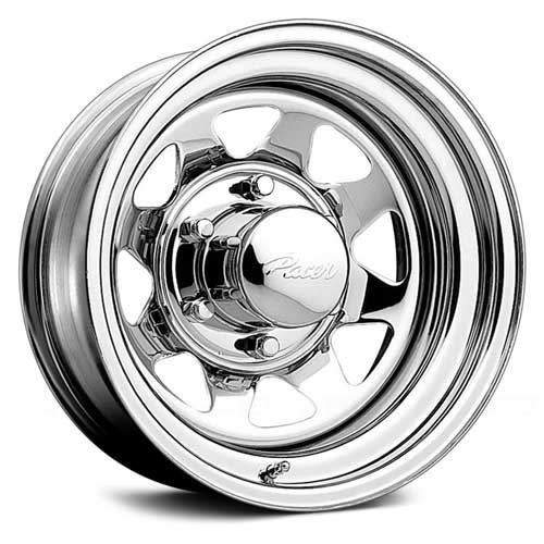 Pacer 315C CHROME SPOKE Wheel with Chrome Finish (15x8