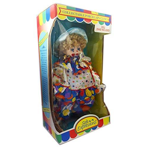 Dan Dee Collectable Porcelain Clown Doll Soft Expressions (Collectible Porcelain Clown Doll)
