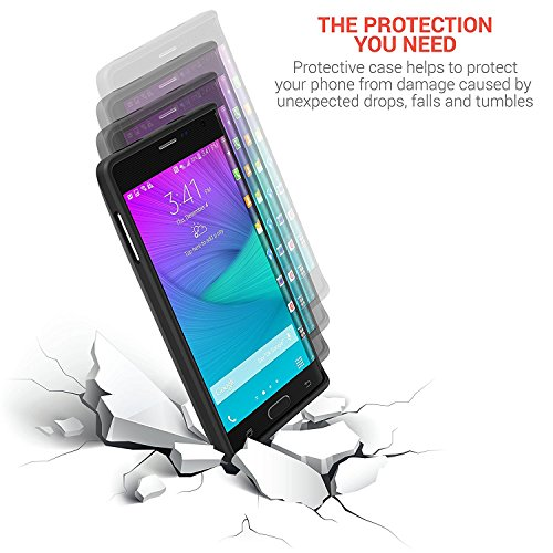 PowerBear Samsung Galaxy Note Edge Extended Battery 6000mAh Back Cover Protective case Up to 25X Extra Battery energy Black 24 Month warrantee screen Protector covered Battery Charger Cases