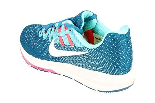 Nike Dameslucht Zoom Structuur 20 Hardloopschoenen 849577 Sneakers Schoenen Industrieel Blauw Wit 402