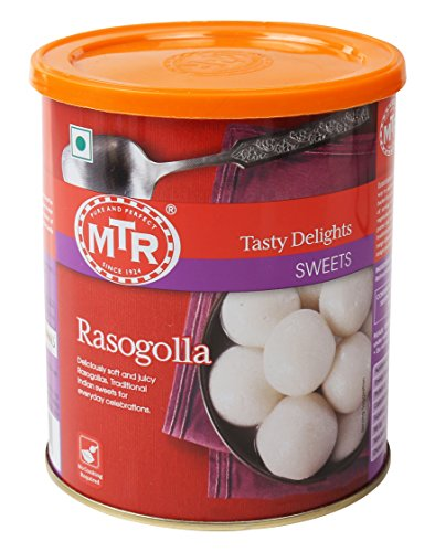 MTR Rasogolla Sweet No Cooking Required 500g-1.1lb by MTR