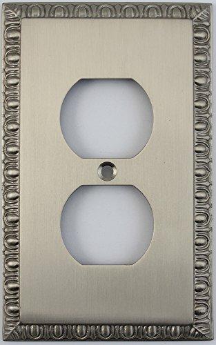 Dart Plate (Egg & Dart Satin Nickel One Gang Duplex Outlet Wall Plate)