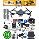 DJI Mavic Pro With 12MP / 4K Camera With 4 DJI Mavic Batteries (Total), Landing Pad, 7 Piece Filter Kit Plus Much More (Carry Case)