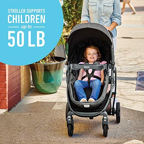 51X24g76bfL - Graco Modes Bassinet Travel System | Includes Modes Bassinet Stroller And SnugRide SnugLock 35 Infant Car Seat, Wynton