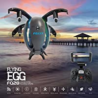 Leewa Pocket RC Drone, Wifi FPV Drone FQ777 FQ28 6-Axis Gyro 2.0MP Camera Foldable Quadcopter Egg Shaped (Black)
