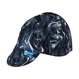 Miller 230542 HeadThreads Welding Cap, Ghost Skulls, Size 7 1/8\