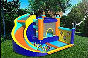 Inflatable Bouncer with Air Blower and Jumping Castle with Slide Children's Inflatable Castle US Warehouse Sending
