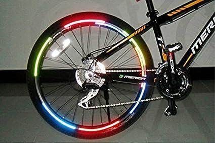 KOONARD Luces de Bicicleta de Montaña, Reflector de Bicicleta Fluorescente MTB Bici Pegatina Rueda de