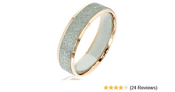7 7 Women Ring Size Gemini Groom /& Bride Matching 18K Gold Filled Anniversary Wedding Titanium Rings Set Width 6mm /& 4mm Men Ring Size