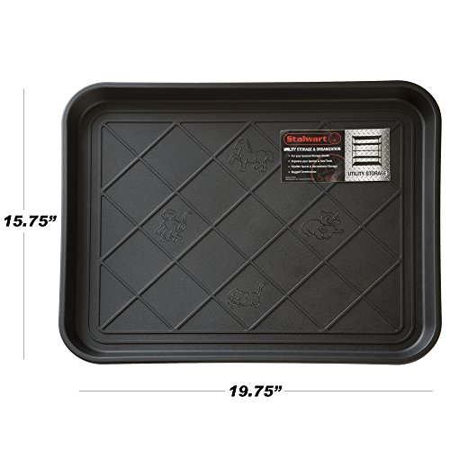 Stalwart 75-ST6013 ECO Friendly Utility Boot Tray Mat, 20'' x 15''/Small, Black by Stalwart (Image #2)