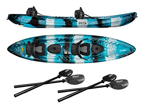 Vibe Kayaks Skipjack 120T Tandem Kayak Package