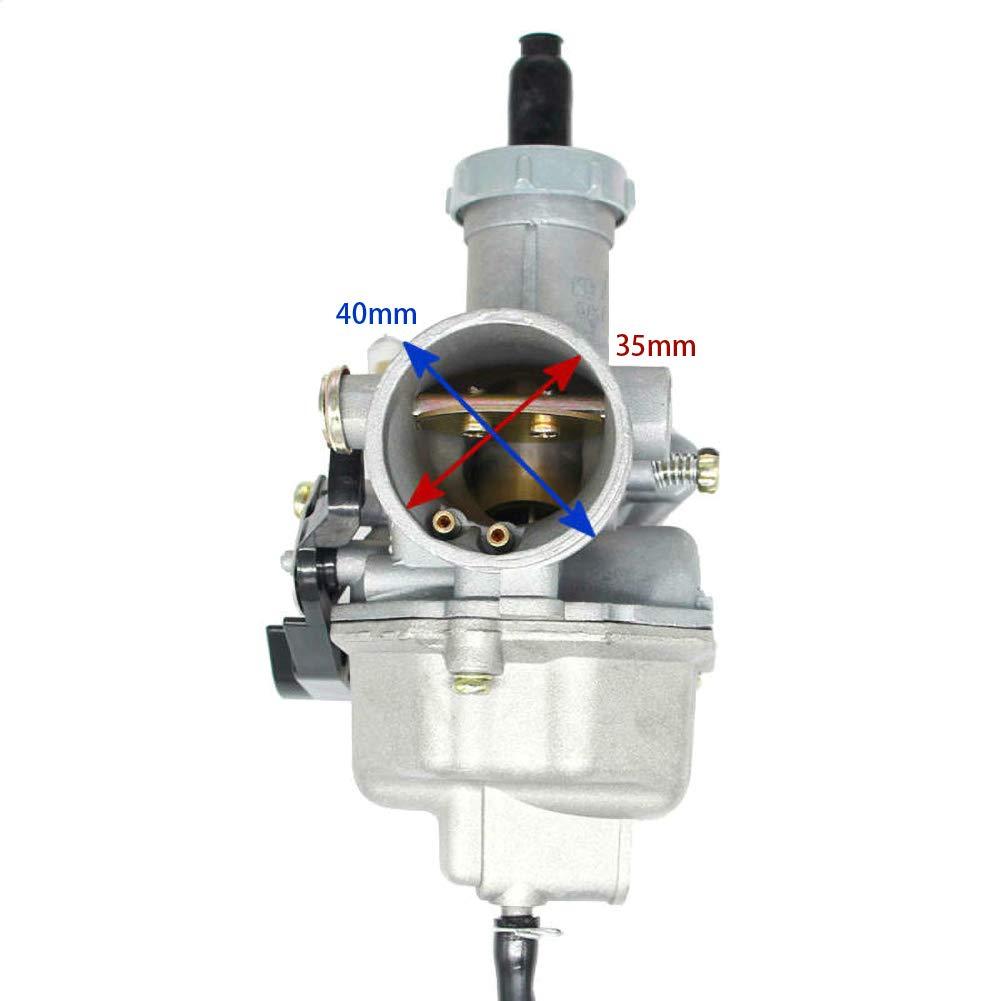 RENNICOCO Estrangulador del Cable carburador Pz27 27 mm para 4 Tiempos CG 125cc 150cc 200cc 250cc ATV IR Kart Dirt Bike Taotao Sunl Buyang Coolsport Lifan Kazuma Zongshen Carburador Chino