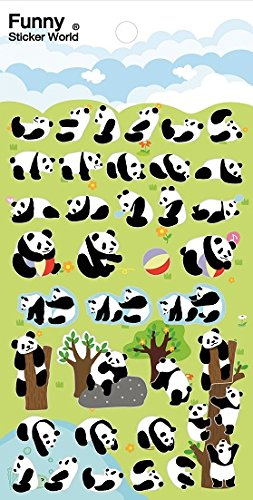 Funny Sticker World Lazy Panda Sticker