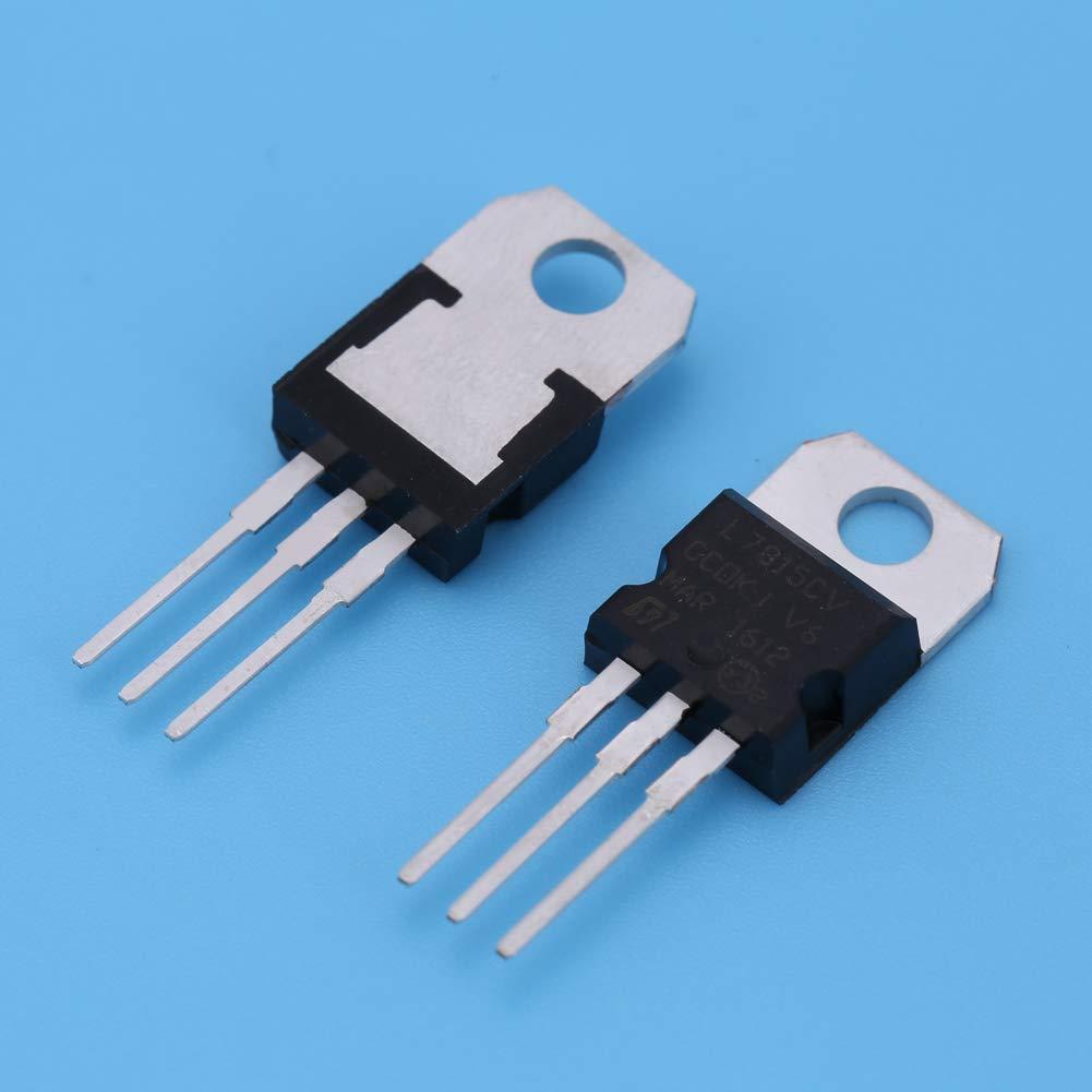 Verschiedene Transistoren Transistor-Sortiment Kit Set LM317 auf 220 Spannungsregler Transistor 7805 7809 7812 7815 7905 7912 7915 f/ür Heimwerker