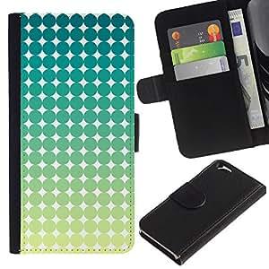 For Apple Apple iPhone 6(4.7 inches),S-type® Pattern Art Green Blue White Stars - Dibujo PU billetera de cuero Funda Case Caso de la piel de la bolsa protectora