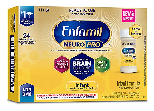 Enfamil PREMIUM Non-GMO Infant Formula - Ready to Use Nursette Bottles, 2 fl oz (6 count)