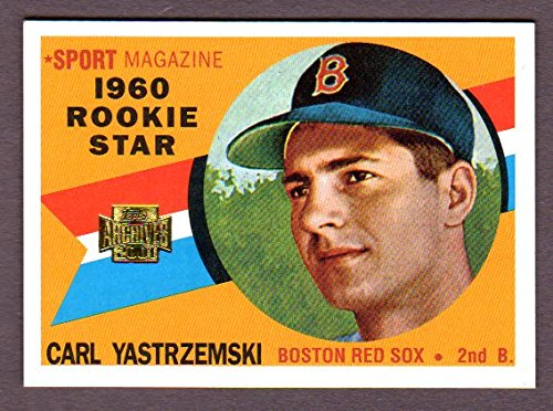 Carl Yastrzemski 1960 Topps Rookie Reprint *w/ Original Back* (From 2001 Topps Archives) (Red Sox)