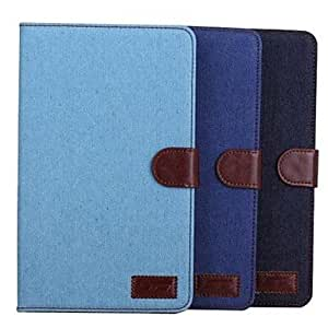 GJY Cowboy Cloth Lines Full Body Leather Case with Card Slot for Samsung Tab Pro 8.4 T320(Assorted Colors) , Light Blue
