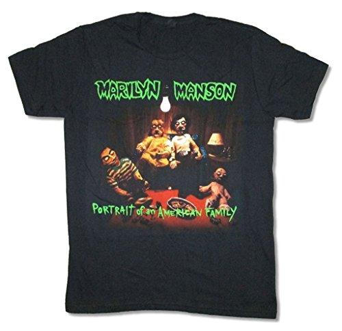 Marilyn Manson Portrait of an American Family Black T Shirt (XS)