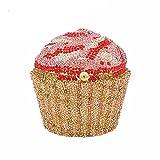 Cupcake Crystal Clutch Evening Bags Wedding Party Bridal Diamond Minaudiere Handbag Clutches Purse (4)