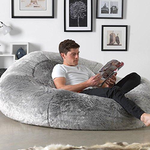 Icon Yeti Cloud Bean Bag Sofa White 160cm X 140cm Giant