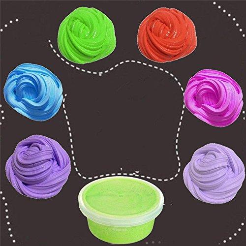 Youngster Muck Miniature - Fluffy Snow Mud Slime Colorful Color Random Kid Sludge Toy Borax Relief - Tiddler Banter Gook Flirt Nestling Nipper Guck Play Kidskin Dog Shaver Pull Leg - 1PCs