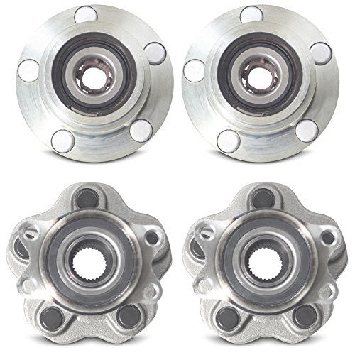 Tomegun 4 to 5 Lug Wheel Hubs Bearing Conversion Set of 4 (Front/Rear) For 89-94 Nissan 240SX S13 by Tomegun