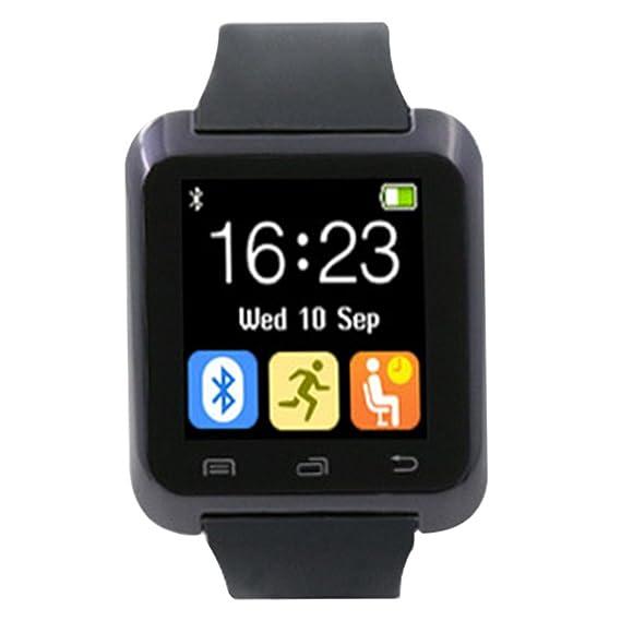 MJARTORIA para Hombre Bluetooth Sleep Monitor pantalla Digital Inteligente Reloj con Banda de goma para Smartphone: Amazon.es: Relojes