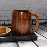 Best Garland Fake Eyelashes - Handcrafted Wood Beer/Milk Mug Handmade Souvenir Tea Cup Review