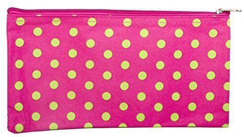 Pink-and-Green-Polka-Dot-Makeup-Brush-Bag-by-Private-Label