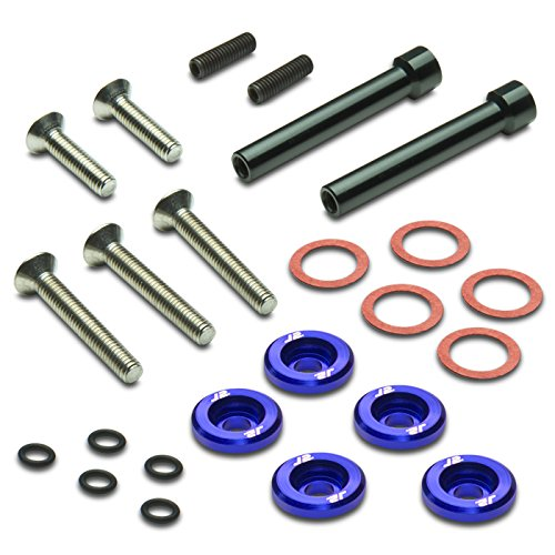 Pack of 5 - J2 Engineering Aluminum Engine Valve Cover Washer+Bolt Kit (Blue) For Honda D-Series