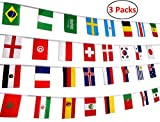 Arts & Crafts : 78 Feet 2018 World Soccer Game Banner Decorations Russia - 32 Countries International Flags Party Supplies
