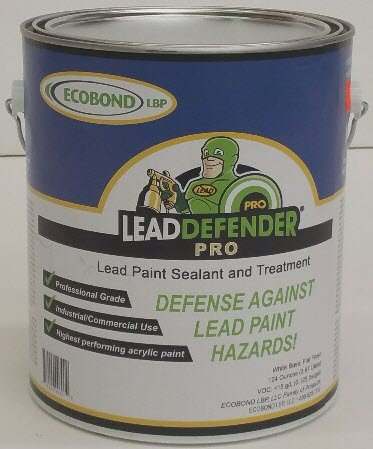 Lead Based Paint - ECOBOND Lead Defender Pro 1-Gal Lead Based Paint Treatment and Sealant-All Orders Receive Our Lead Paint Treatment Industry Awareness Webclass and Multi-media Mixing and Application Tutorial