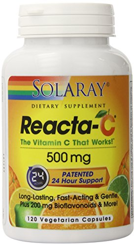 Solaray Reacta-C with Bioflav Capsules, 500 mg, 120 Count ()