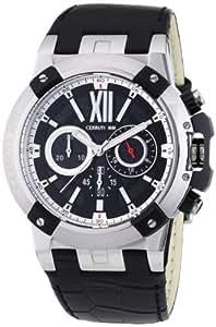 CERRUTI CRA060A222H - Reloj para hombres, correa de cuero color negro