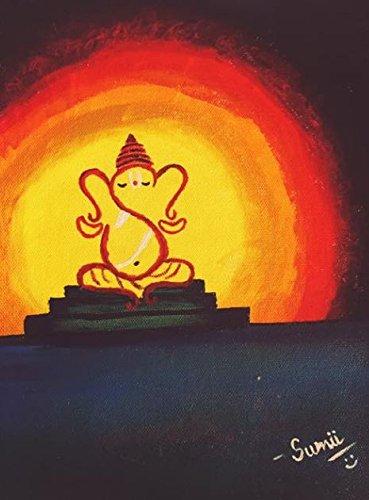 Ganesha Acrylic Canvas PaintingA4