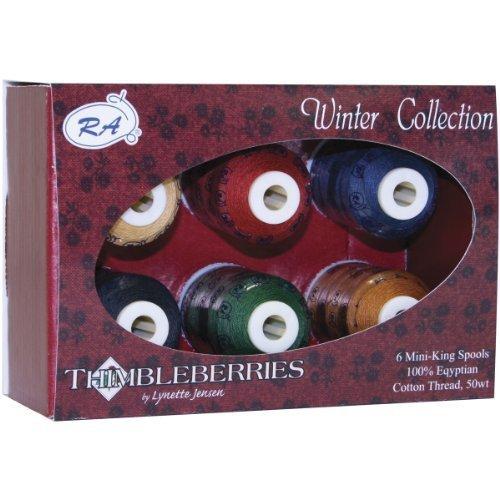 (Robison-Anton Thimbleberries 6-Pack Cotton Thread Collection, Winter by Robison-Anton)
