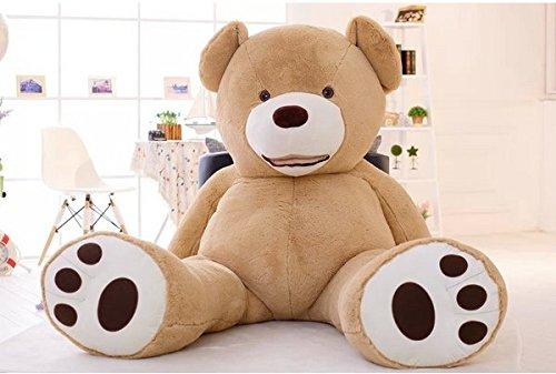 Hugme 200 cm Plüsch Teddy Giant Giant XXL Riesen Teddybär Plüsch-Teddybär US hellbraun