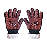 EUBEST BBQ Grilling Cooking Gloves - Kitchen Gloves - Heat Resistant Kevlar & Silicone Insulated Protection 1 Pair (Red)