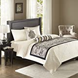 Aubrey Bedscarf and Pillow Set Black See below