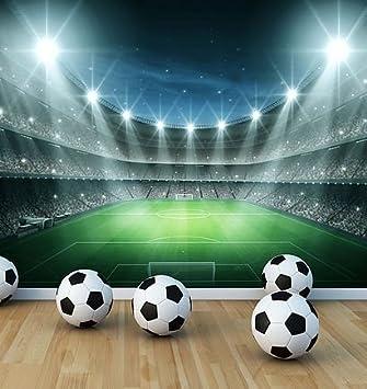 Poster Mural De Estadio De Futbol En Papel Pintado Para Ninos Para