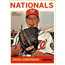 2013 Topps Heritage Baseball Card #441 Jordan Zimmermann Near Mint/Mint