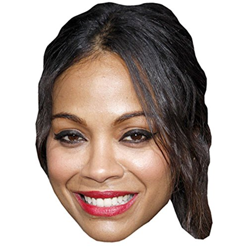 Zoe Saldana Celebrity Mask, Card Face and Fancy Dress - Zoe Saldana Home