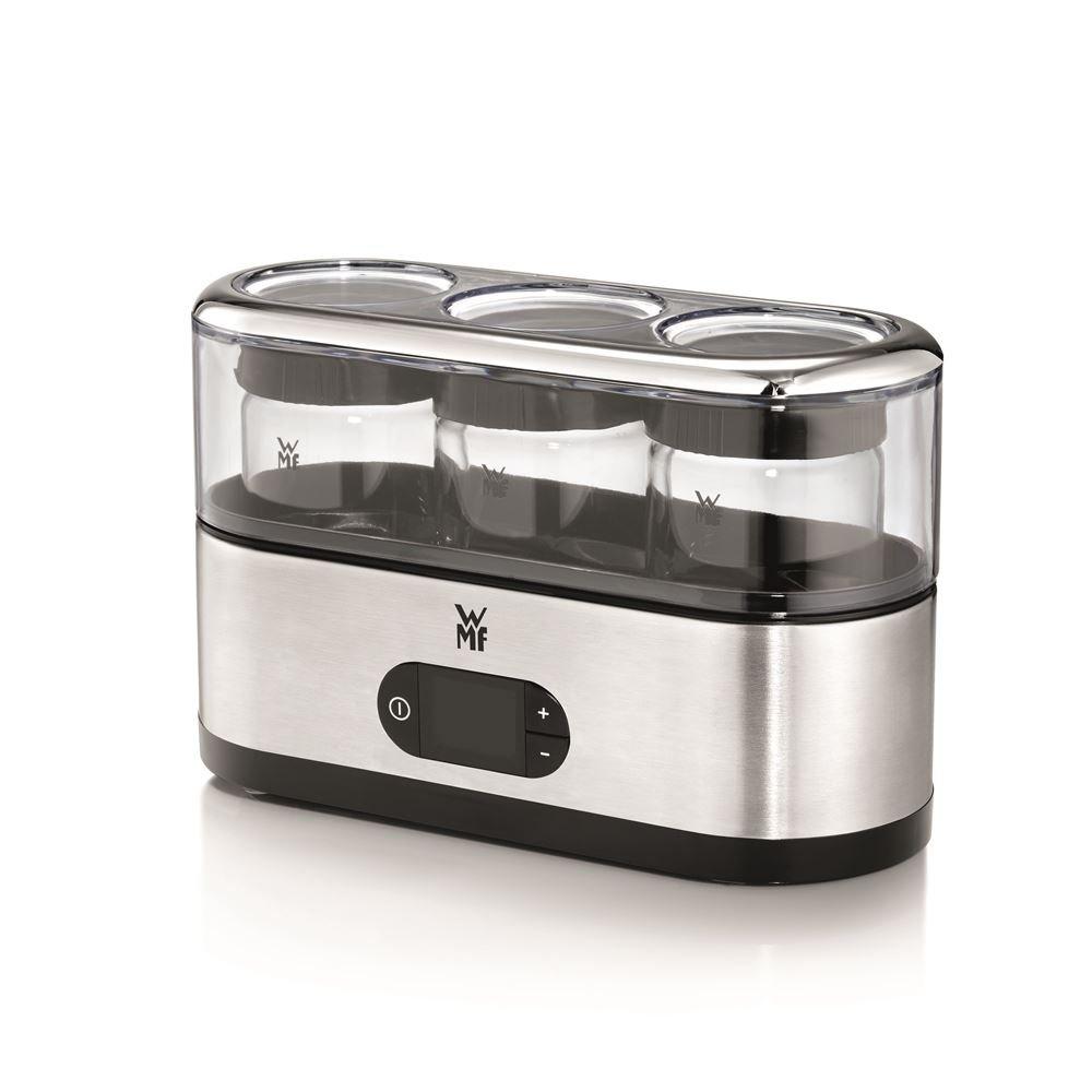 WMF Kitchenminis–Yaourtière, 15W, chromé/noir/transparent [Classe énergétique A+] 6130245334