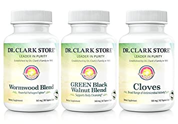 Dr. Hulda Clark Vegetarian Green Black Walnut, Wormwood, Cloves. Intestinal  Whole Body