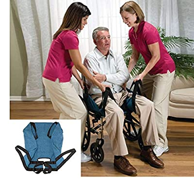 Aide Transfer Lift Sling?Two-Person Wheelchair Mobility Transfer System with Heavy Duty Belts?Nursing Aid for Transfers, Secure & Safe Lift for Elderly,Bedridden?Disabled