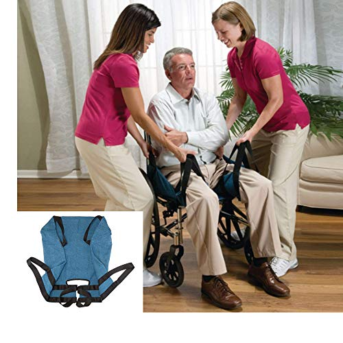 Aide Transfer Lift Sling,Two-Person Wheelchair Mobility Transfer System with Heavy Duty Belts,Nursing Aid for Transfers, Secure & Safe Lift for Elderly,Bedridden,Disabled ()